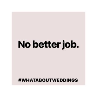 "#whataboutweddings   Breaking my Instagram layout pattern for no better reason than to state there is no better job for me and support this campaign that is championing us suppliers in the wedding industry during this awful time ❤️  The last few days after hearing we should get ""better jobs"" has been awful.  This is my job, it is the best job in the world for me, and will continue to be my job in the future and I will not stand for anyone telling me different.   ""Be patient in the storm and the sunshine will come after"" Unknown  🌈 ❤️"